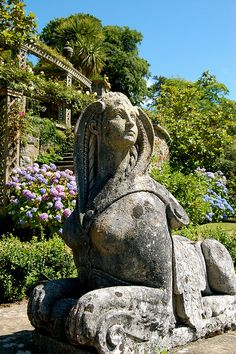 Sphynx looking thoughtful, Bodnant Gardens, Wales