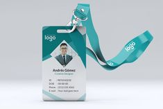 Official ID Card Design by ZAAS on @creativemarket Identity Card Design, Id Card Design, Badge Design, Id Card Template, Card Templates, Design Templates, Mockup, Hello Kitty Pictures, Stationery Templates