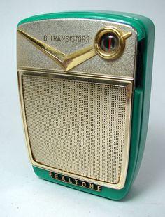 Classy Turquoise Realtone Constellation TR 8611 Six Transistor Radio Works | eBay
