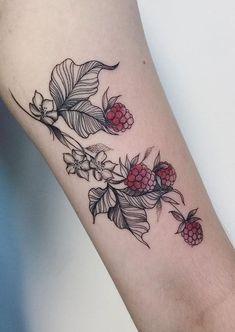 Cute fruit tattoo ideas - Topstoryfeed - Thinks Tatto Cute Tattoos, Leg Tattoos, Beautiful Tattoos, Flower Tattoos, Body Art Tattoos, Small Tattoos, Sleeve Tattoos, Tattoo Art, Piercings