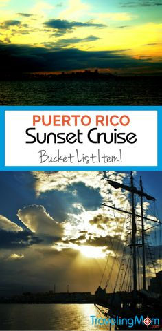 When two teens take their first solo trip, they choose a sunset sail in Puerto Rico. Their mom shares their story, with just a little bit of jealousy.