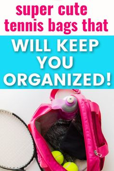 Are you looking for cute tennis bags that you can buy online? These tennis bags are stylish and will help you stay organized for your tennis matches and tournaments.