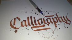How to write Calligraphy with Pilot Parallel Pen by Lalit Mourya - YouTube