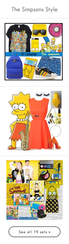 """""""The Simpsons Style"""" by yours-styling-best-friend ❤ liked on Polyvore featuring Valentino, Casetify, Moleskine, adidas, Moschino, Round Towel Co., Glamorous, Christian Louboutin, David Yurman and Essie"""