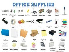 EwR.Poster #English Vocabulary - Office Supplies