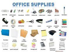 Vocabulario utensilios oficina