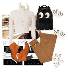 """Brown for December"" by gsitorus on Polyvore featuring A.L.C., Diverso, Anya Hindmarch, Chloé and Kate Spade"