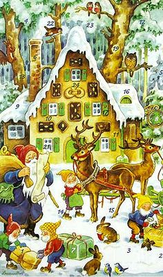 Advent card from Germany