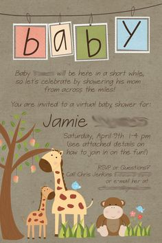 Long distance baby shower invitation virtual baby shower military