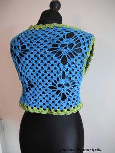 Free crochet patterns and video tutorials: How to crochet bolero shrug with skulls chaleco free pattern tutorial by marifu6a