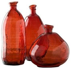 Burnt red glass collection, Morph Vases