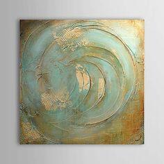Pintura al óleo pintada a colgar Pintada a mano - Abstracto Contemporáneo Lona 2018 - $1256.08