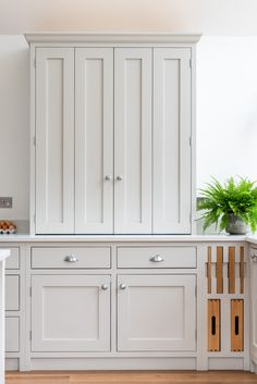 ILANGA KITCHEN | Shere Kitchens - beautiful kitchens handmade in Shere Guildford Surrey Kitchen Cabinet Makers, Kitchen Storage, Tall Cabinet Storage, White Wood Kitchens, Pantry Cupboard, Handmade Kitchens, Bespoke Kitchens, Wood Cabinets, Beautiful Kitchens