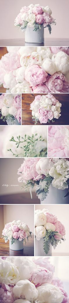 pink and white peonies chilean peony bouquet by Modern Day Floral, grand rapids michigan My Flower, Flower Power, Beautiful Flowers, Beautiful Bouquets, Peony Flower, Dahlia, Deco Floral, Arte Floral, Wedding Bouquets