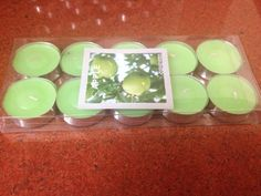 Green Apple scented Tea light candle for ₹120/-