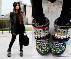 THOSE SHOES!!!   Jacket, Urban Outfitters Pants
