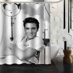 Custom Home Decor Elvis Presley Fabric Modern Shower Curtain Bathroom Waterproof