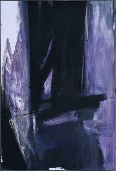 Franz Kline, Torches mauve, 1960, olieverf op doek, 305 x 206 cm, Philadelphia Museum of Art, Philadelphia - Biografie: http://www.artsalonholland.nl/grote-meesters-kunstgeschiedenis/franz-kline