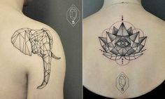 Conheça as tatuagens geométricas e delicadas desta artista turca