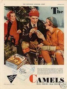 Camel Cigarettes Color Ad 2 Page (1932)