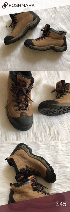 Timberland waterproof hiking boots 10 Gently worn. No flaws. They are waterproof and mid rise. Size 10 Timberland Shoes Boots
