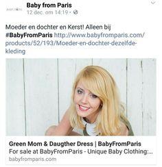 Moeder en dochter en Kerst! Alleen bij #BabyFromParis http://www.babyfromparis.com/products/52/193/Moeder-en-dochter-dezelfde-kleding #matchingclothes #matchingoutfits #matchingsdress #momandbaby #moederendochter #matchingoutfit #matchingoutfits