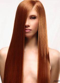 straight long red hair<3