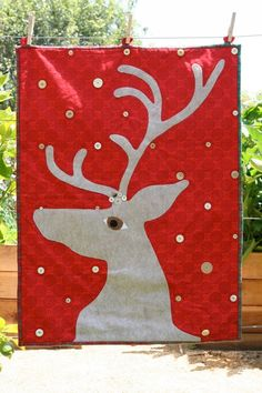 Handmade NORDIC HOLIDAY quilt by minxymouseandmo on Etsy, $85.00