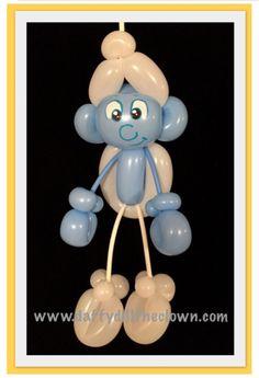 Balloon Smurf Marionette