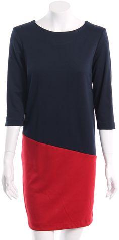 Nueva Colección Otoño Invierno 2012  Vestido combinado tres colores