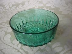Vintage 1970s Arcoroc green pressed glass bowl by ByreandCellar, £5.00