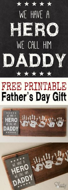 DIY Father's Day Gift for dads & Grandpas ~ with a FREE printable... LOVE this! Includes printables for (I or We) and for (Dad, Daddy, Papa, Grandad, Grandpa)