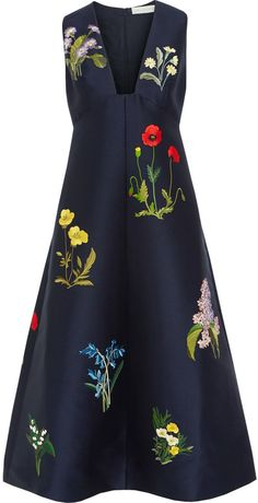 Stella McCartney Stella Mccartney Kaitlyn Embroidered Satin Dress
