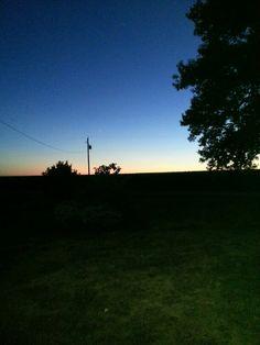 Milo Iowa sunset