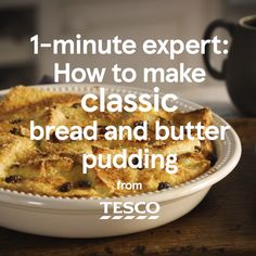 Learn how to make a timeless British pud with our easy video guide. With plenty of vanilla custard, juicy sultanas and a golden crunchy sugar topping, this creamy bread and butter pudding is the ultimate comfort food. Easter Recipes, Baby Food Recipes, Dessert Recipes, Cooking Recipes, Recipes Dinner, Easy Pudding Recipes, Bread And Butter Pudding, Custard Bread Pudding, Biscuit Pudding