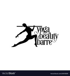 Yoga logo balerina logo vector image on VectorStock Dancer Silhouette, Silhouette Vector, Silhouette Cameo, Free Vector Images, Vector Free, Dance Logo, Motion Logo, Yoga Logo, Female Dancers