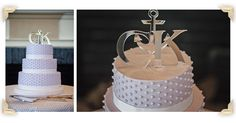 Lavender Wedding Cake.  Celebration Cakes by Janice Strout. Bar Harbor Inn Weddings.