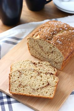 Cinnamon Swirl Maple Yogurt Quick Bread {Whole Wheat} Recipe from A Kitchen Addiction @akitchenaddict