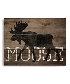Another great find on #zulily! Moose Wall Art #zulilyfinds