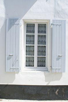 light blue window