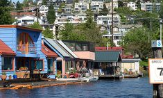 Community houseboats - This is one of the many places in the world I would enjoy living.