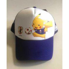 Pokemon Center 2014 Pikachu Samurai Blue World Cup Soccer Hat