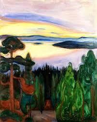 "Resultado de imagen para White Night"" Edvard Munch."