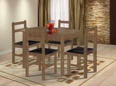 Conjunto de Mesa com 4 Cadeiras Mille - Fritz Móveis. MAGAZINE DUFROM - Acesse: www.magazinevoce.com.br/magazinedufrom/ confira essa e uma infinidade de ofertas.