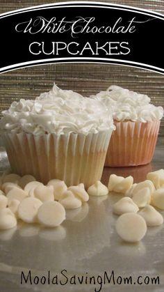 White Chocolate Cupcakes - Moola Saving Mom