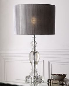 Shop Pleated Shade Crystal Lamp at Horchow, where you'll find new lower shipping on hundreds of home furnishings and gifts. Bedroom Lamps, Master Bedroom, Glam Bedroom, Bedroom Lighting, Bedroom Ideas, Bedroom Decor, Tiffany Lamps, Bedside Lamp, Desk Lamp