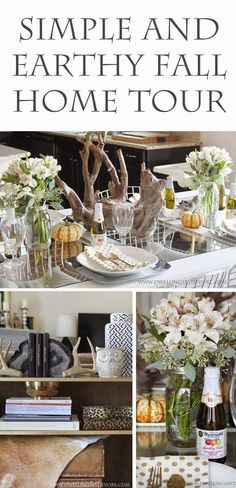 Earthy fall home tour by Dwellings by DeVore