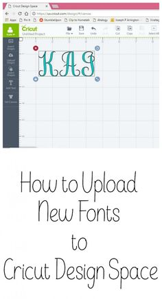How to Upload a new Font to Cricut Design Space