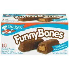 Drake's Cakes Funny Bones , Devil Dogs, and Yodels.
