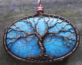 UPCYCLED Large Magnesite Wire Wrapped Tree of Life